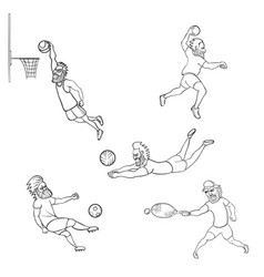 set of athlete different sports vector image