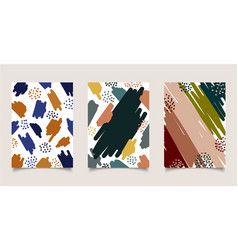 Set of cover brochure abstract aesthetic hand vector