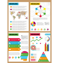 Set of infographic leaflets prospects can be vector