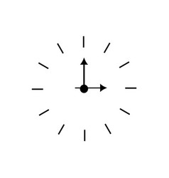 simple classic black and white round wall clock vector image