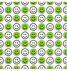 Smile icon pattern happy faces on a white vector