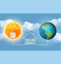 Solar power concept realistic vector