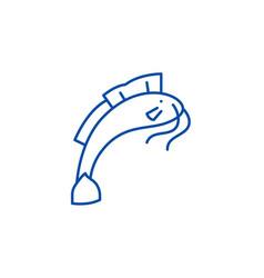 Som line icon concept flat symbol vector