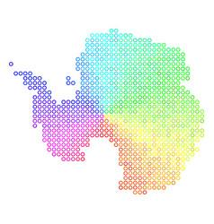 Spectral antarctica map vector