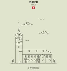 st peter church in zurich vector image
