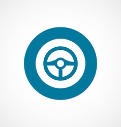 steering wheel bold blue border circle icon vector image