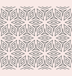 Subtle seamless ornament pattern thin geometric vector