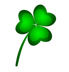 three-leaf clover symbol st patrick s day vector image