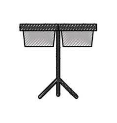 Timpani music instrument icon vector