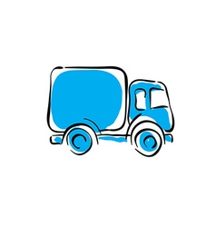 truck icon animated delivery car vector image