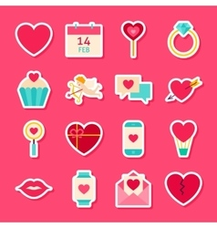 Valentines Day Love Stickers vector image