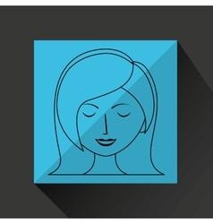 woman avatar design vector image