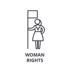 woman rights thin line icon sign symbol vector image