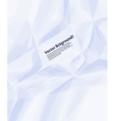 Wrinkled Paper Background vector image