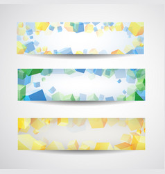 abstract banner set for design vector image vector image
