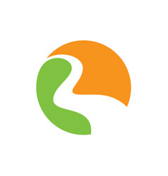 abstract circle wave business logo vector image