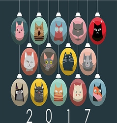 Cats 1123 vector image vector image