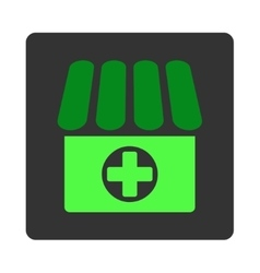 Clinic Flat Button vector image