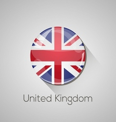 European flags set - United Kingdom vector image