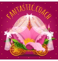 Fairytale carriage from Princess made of flower vector image