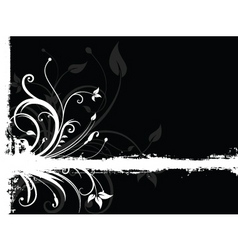 floral grunge vector image vector image