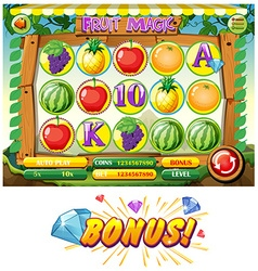 Game template with fruits vector image vector image