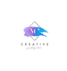 mc artistic watercolor letter brush logo vector image vector image