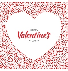 Red Hearts Frame Background Valentines Day Card vector image