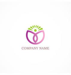 round eco spa logo vector image