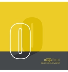 The letter O vector image vector image