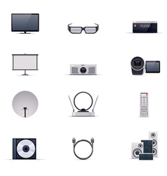 video electronics icon set vector image