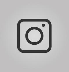web camera icon isolated on grey background flat vector image