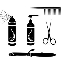 Hairdressing set vector image