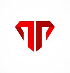 Letter t company logo vector