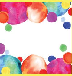 Multicolored orbs watercolor confetti vector