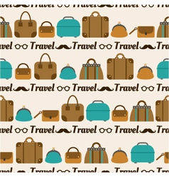 seamless pattern of bags luggage baggage vector image