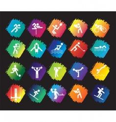 sports figures vector image