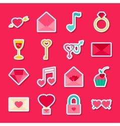 Valentines day stickers vector