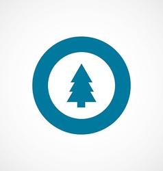 fir-tree bold blue border circle icon vector image vector image