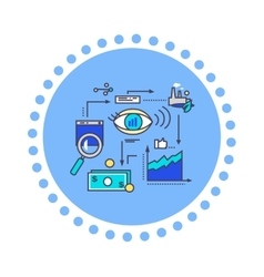 Icon Flat Style Design Vision Development vector image vector image