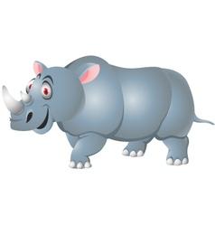 rhino cartoon isolated vector image vector image