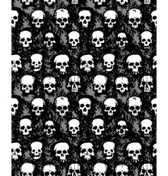 set of hand drawn skulls vector image