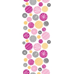 Abstract textured bubbles vertical border seamless vector image vector image