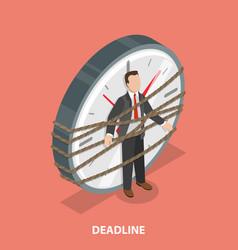 deadline flat isometric concept vector image