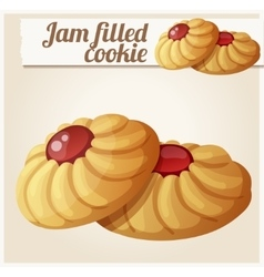 Jam filled cookie Detailed icon vector image vector image