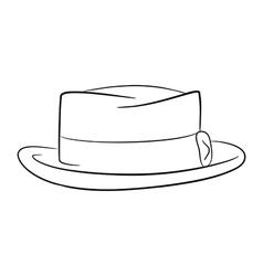 mans hat logo contour vector image vector image