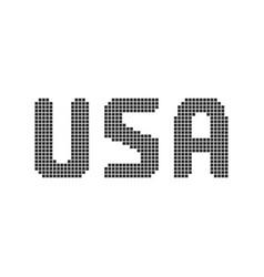 pixel art black usa text vector image vector image