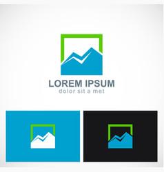 triangle mountain icon logo vector image vector image