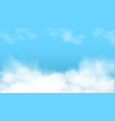 3d abstract blue sky and white clouds vector image