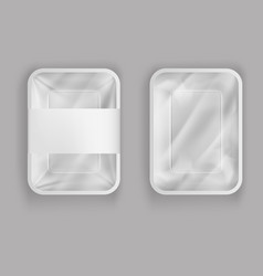 3d realistic plastic container for food vector image